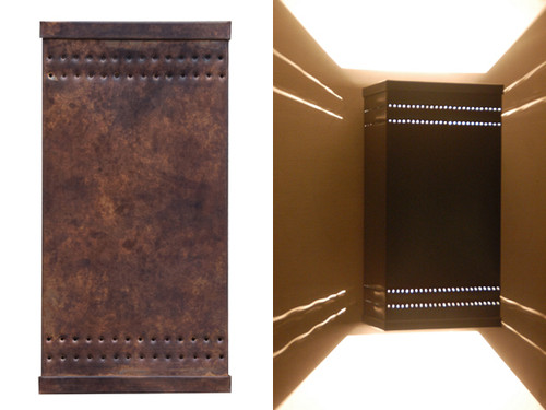 Day and night view of Simple Punched Wall Light