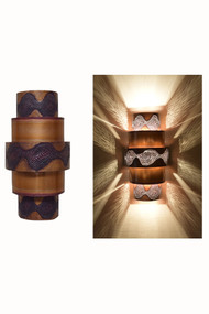 Day and Night View of the Burned Ziggurat Wall Sconce