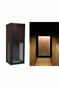 Hidden Light Wall Sconce   Architectural Wall Sconce Featuring Dark Antique  Copper And Seeded Glass.
