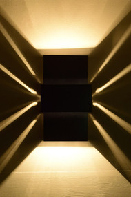 Three Tiered Rectangular Ziggurat Wall Lighting