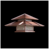 Double Roof Post Lantern Light