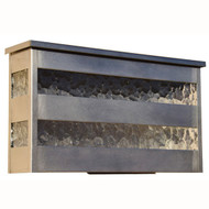 "Slat Mailbox - Stainless steel finish and water glass - Horizontal - coordinates with our popular ""Slat"" wall sconce."