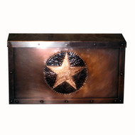 Texas Star Mailbox - Horizontal - Dark antique copper finish
