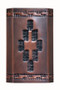 Antique copper Shadow Mountain wall sconce handcrafted in Austin, TX since 1995.