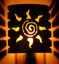 Spiral Sun Night Light.