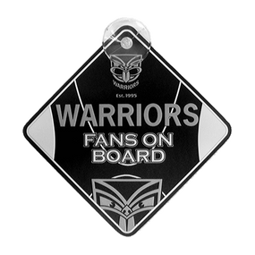 Warriors Supporter Car Sign