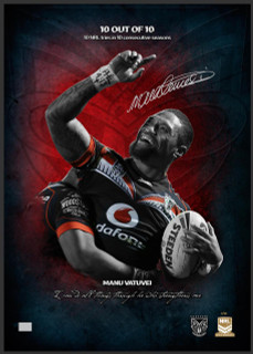 Manu Vatuvei '10 out of 10' Limited Edition Print - Signed by Manu Vatuvei