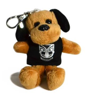 Warriors Plush Dog Keyring