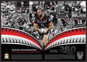Simon Mannering 250 NRL Games Limited Edition Print - Individually Signed