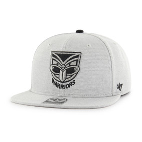2017 Warriors 47 Boreland Flatpeak Cap - Grey