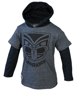 2017 Warriors Classic Long Sleeve Hooded Cotton Tee - Infants