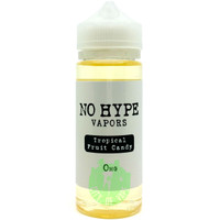 No Hype Vapors 120ml E-liquid - Tropical Fruit Candy