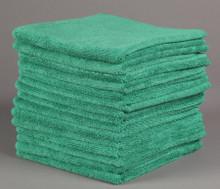 16x16 Green Microfiber Terry Towel