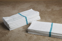 16 x 27 Green Stripe Value Hand Towel