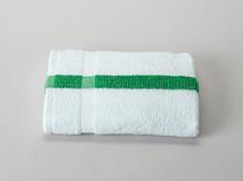 22x44 Green Stripe Economy Bath Towel