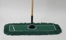 "24"" Green Dust Mop - 12 per case"