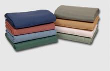 76x110 Wedgewood Blue Ribcord Bedspread - 12 per case