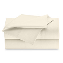 King 108x115 Bone T250 Flat Sheet - 2 dozen