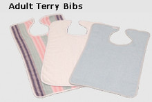 White Adult Terry Bib
