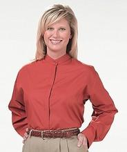 Women's Banded Collar Waitress Shirts