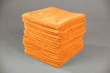 16x16 Orange Microfiber Terry Towel