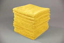 16x16 Yellow Microfiber Terry Towel