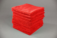 16x16 Red Microfiber Terry Towel
