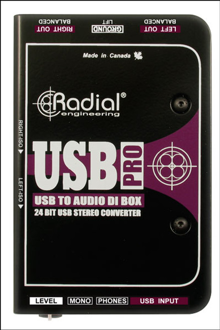 Radial Engineering USB-Pro™ Stereo USB Laptop DI