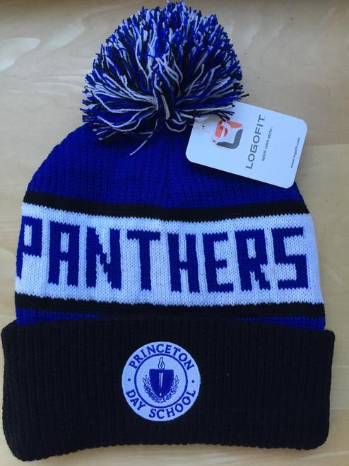 Panther Pom Pom Hat