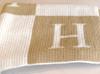 Personalized Initials & Blocks Monogram Cashmere or Acrylic Blanket
