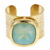 Poppy Adjustable Gemstone Ring - Aqua