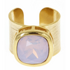Poppy Adjustable Gemstone Ring - Light Pink
