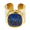 Poppy Adjustable Gemstone Ring - Navy