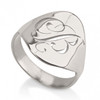 Cut Out Single Initial Monogram Ring - Sterling Silver