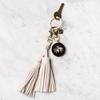Fiona Double Tassel Keychain - White
