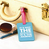 It's Not the Destination It's The Journey Leather Luggage Tag