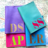 Mia Personalized Initial Passport Cover, Customized Leather Passport Cover