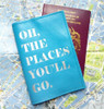 Oh The Places You'll Go Personalized Leather Passport Cover, Dr Seuss Passport Holder, Quote Passport Cover