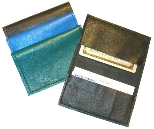 Men's Metro Straight Edge Leather Business Card Holder, Men's Leather Metro Card Holder