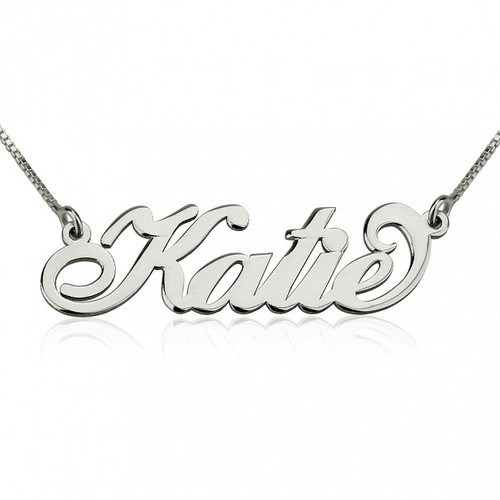 Personalized Sterling Silver Carrie Necklace