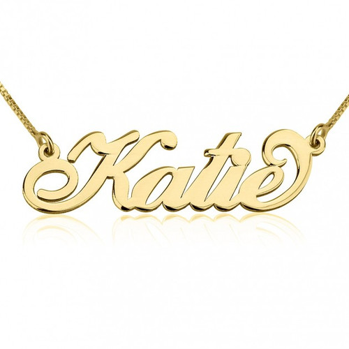 Carrie Personalized Name Necklace - 24K Gold Plated