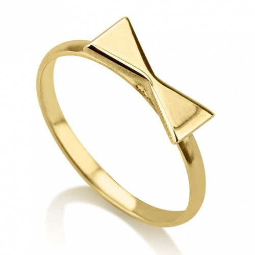 24K Gold Plated Bow Midi Ring