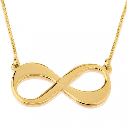 Infinity Symbol Love Necklace - Gold Plated
