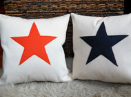 Scrabble Inspired Star Canvas Cushion, Scrabble Inspired Star Canvas Pillow