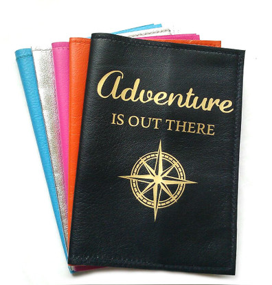 Adventure Is Out There Leather Passport Cover, Leather Passport Holder