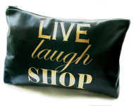 Live Laugh Shop Leather Toiletry Bag & Wash Bag