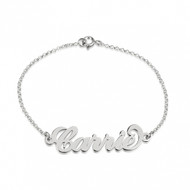 Carrie Sterling Silver Personalized Name Bracelet