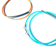 Mila Double Leather Cord Bracelet with Metal Tube