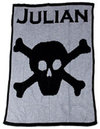 Skull & Crossbones Personalized Blanket -Cashmere or Acrylic