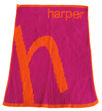 Butterscotch Blankees Slanted Letter & Name Personalized Blanket - Cashmere or Acrylic